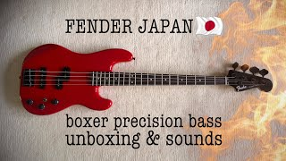 New Fender Japan Bass Unboxing And Sounds