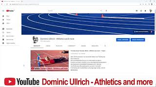 """Vorstellung YouTube-Kanal """"Athletics and more"""""""