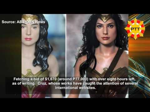 Watch: Pinoy Artist Creates Life-like Wonder Woman Doll