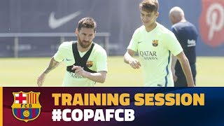 Last training session before Copa del Rey final