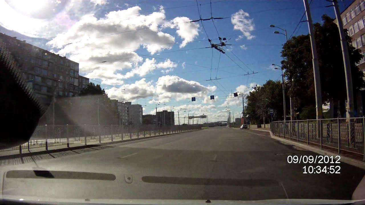 Видеорегистратор ACV DOD Q5 Калининград пример ночь - YouTube