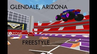 Monster Jam Glendale, AZ Freestyle [ROBLOX] Jan.30, 2016