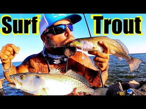 Surf Trout | Galveston Texas Fishing Beach Front