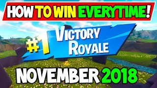 How To Win Fortnite In November 2018! - HOW I WON ON SOLO SQAUDS! Secret Tips and Tricks!