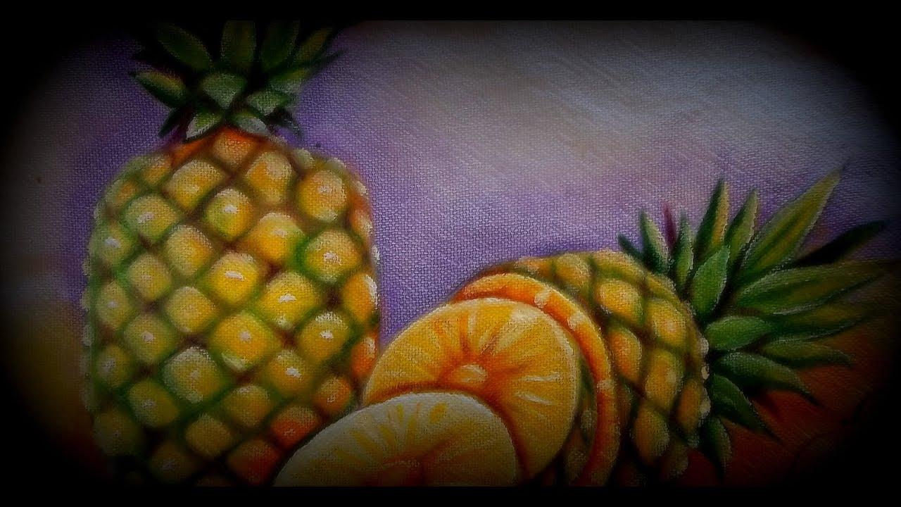 Como pintar abacaxi na pintura em tecido youtube - Como pintar un radiador ...