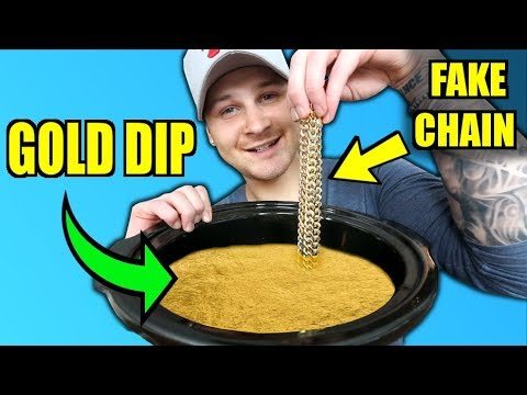 Hydro Dipping CHEAP Jewelry REAL GOLD Color! (IT LOOKS SO REAL!)