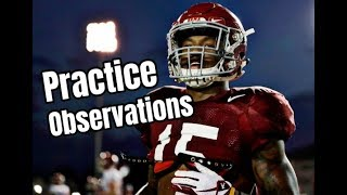 Alabama Crimson Tide Football practice observations with Kyle Henderson