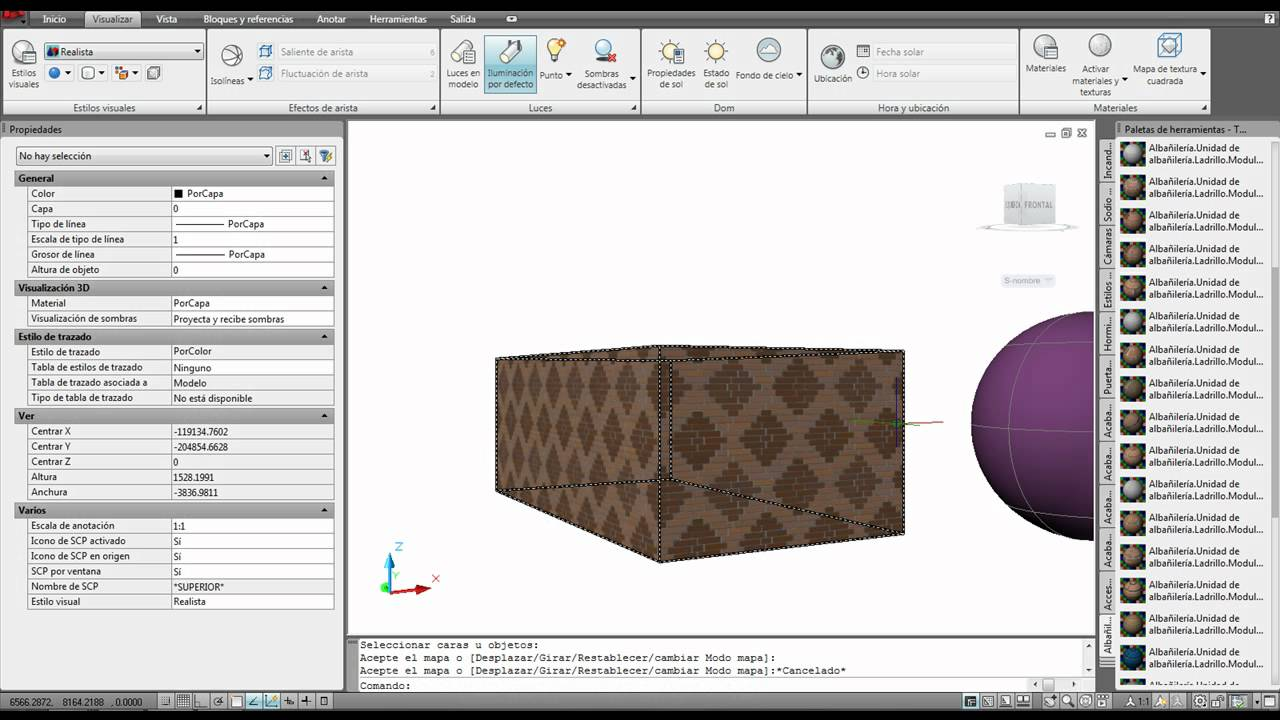 AUTOCAD VIDEO 57 AJUSTE MATERIALES - YouTube