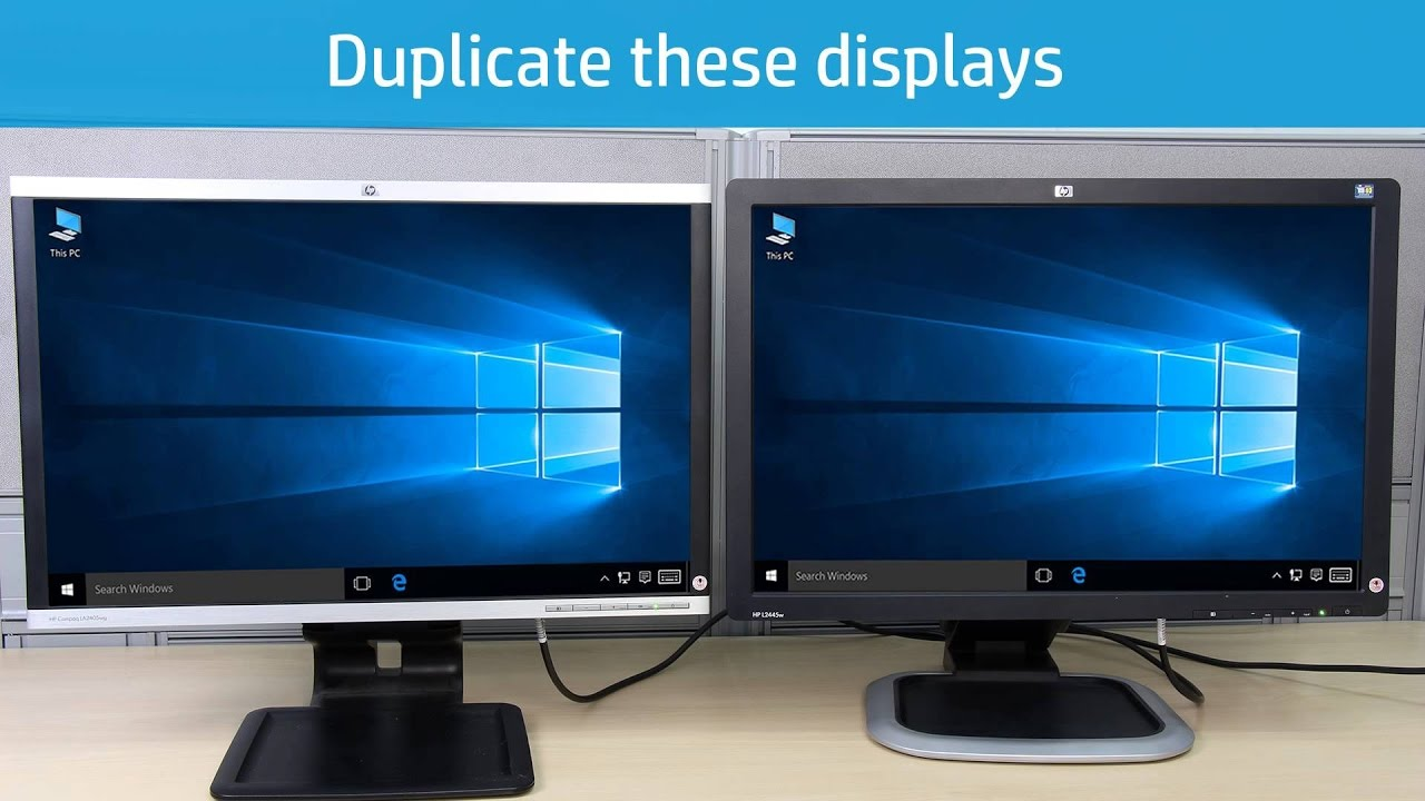 how to set up dual monitors windows 10
