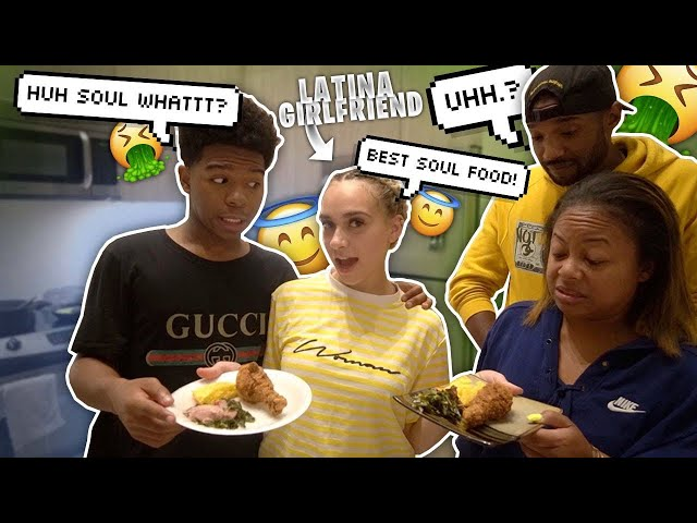 MY MEXICAN GIRLFRIEND TRIES TO COOK SOUL FOOD! *surprised*