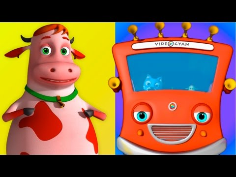 The Wheels On The Bus Go Round And Round Song | 3D Animation | Kids Songs | Videogyan