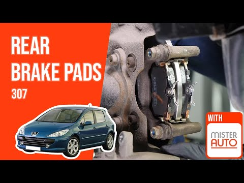 How to replace the rear brake pads Peugeot 307 🚗