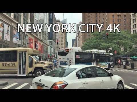 Driving Downtown 4K - NYC Alley Avenue - New York City USA