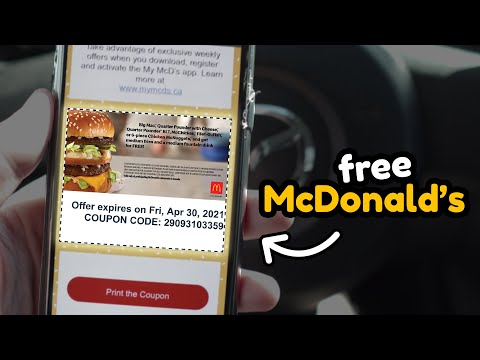 how to get free food from McDonald's