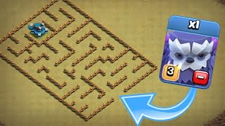 ONE TROOP vs LEVEL 1 MAZE BASE!! - Clash Of Clans