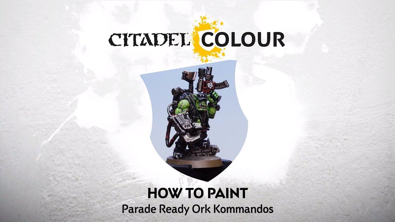How to Paint: Parade Ready Ork Kommandos