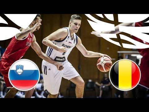 Slovenia v Belgium - Full Game - Quarter-Finals - FIBA U20 European Championship Division B 2018
