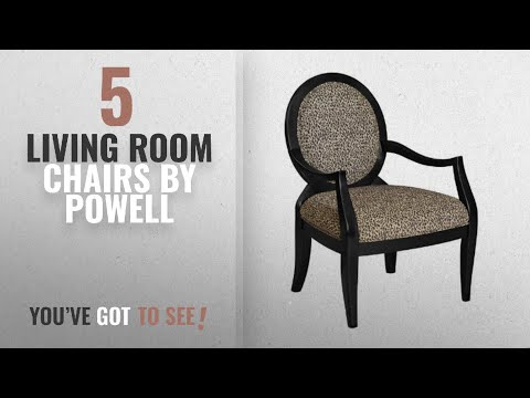 Top 10 Powell Living Room Chairs [2018]: Powell Leopard Oval Back Accent Chair, 18-3/4-Inch