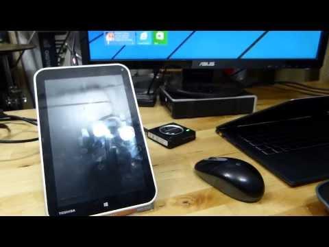 Toshiba Encore WT8. Three Screen Output Options