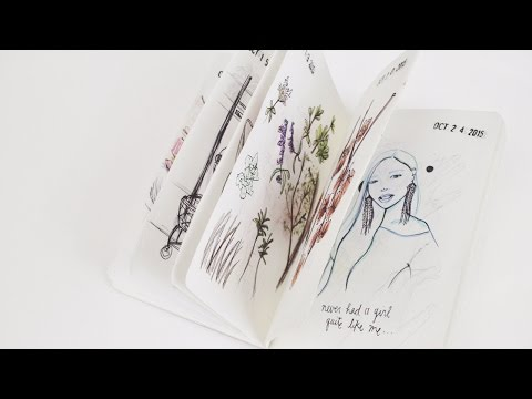 2016 Sketchbook Flip-Through + My Thoughts | Ch▲r ▼illen▲