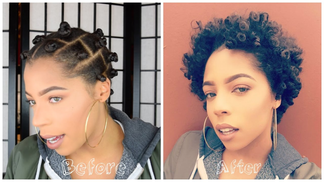 Showing You How I Take Down My Bantu Knots On Short Natural 4c Hair
