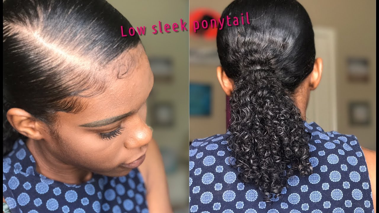 Sleek Low Ponytail Natural Hair Youtube