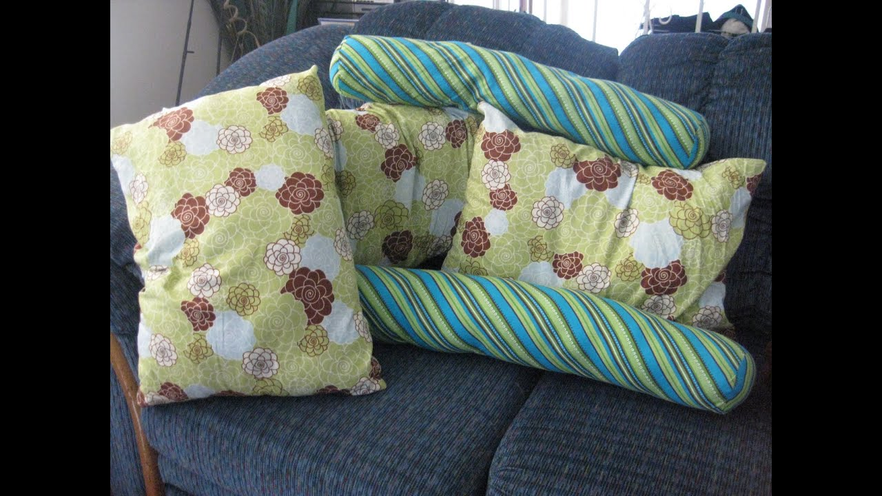 Tube Pillow Case Diy: DIY How to make a cute tube pillow roll pillow   YouTube,