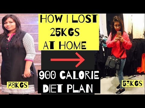 900-calorie-diet-plan-for-weight-loss-|-how-i-lost-25kgs-at-home-|-azra-khan-fitness