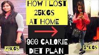 900 Calorie Diet Plan For Weight loss   How i lost 25kgs at home   Azra Khan Fitness