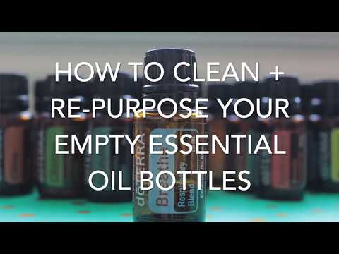 How to Clean + Re-Purpose Your Essential Oil Bottles