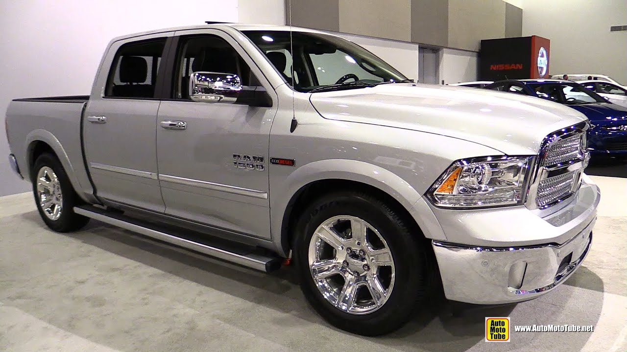 2015 Dodge Ram 1500 Laramie Crew Cab   Exterior And Interior Walkaround    2015 Ottawa Auto Show   YouTube