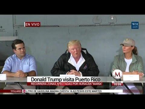 Trump recorrerá zonas afectadas en Puerto Rico