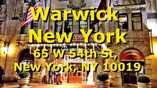 Warwick New York Hotel - Great Places To Stay In New York - Video Tour