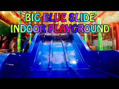 Indoor Playground Big Blue Slide. Amazonia Great World City. Singapore | Indoor Playground
