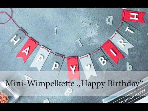 Mini-Wimpelkette Happy Birthday!