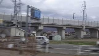 屋代高校前~屋代駅、しなの鉄道線、進行方向左側車窓から