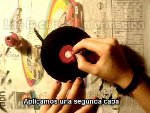 Discos de vinilo retro manualidades reciclar para - Manualidades con discos ...