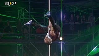 Optreden Vincent - Show 2 - CELEBRITY POLE DANCING