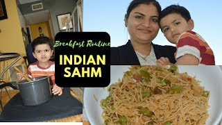 Vlog: Indian NRI Mom Breakfast Routine | Summer Edition | Indian Mommy Vlogger | Real Homemaking