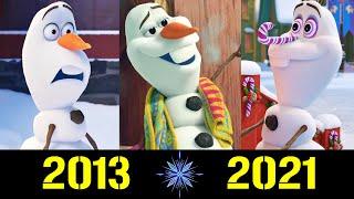 Олаф Эволюция 2013 2021 Все Появления Снеговичка