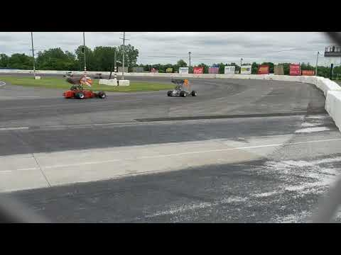 ISMA Super Modifieds Lancaster National Speedway 2018 practice