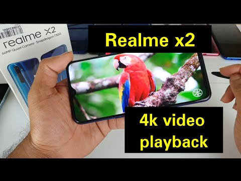 Realme x2 4k video playback test