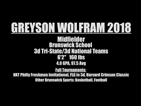 Greyson Wolfram - Brunswick School 2018 - Lacrosse Highlights