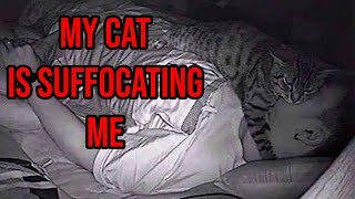 Guy Installs Camera And Finds Out His Cat Has Been Suffocating Him At Night