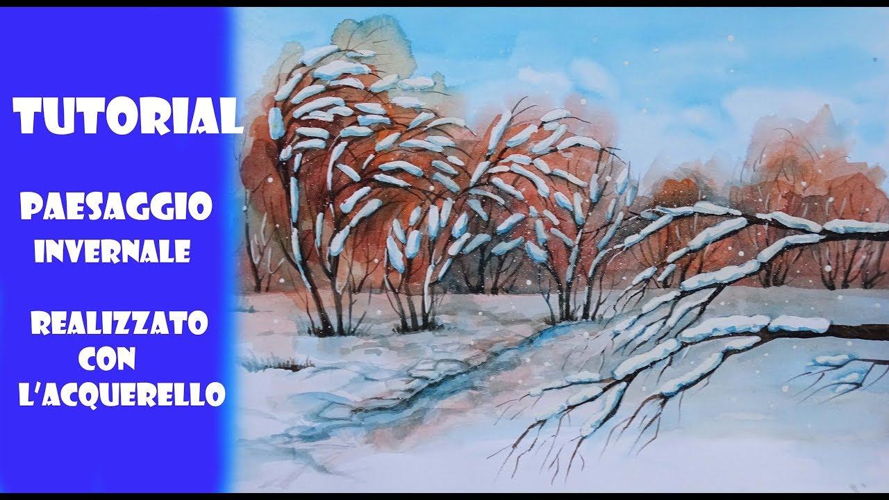 Paesaggio Invernale Acquerello