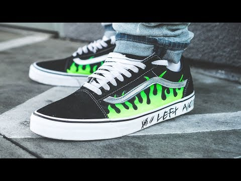 "Custom ""Volt Flare"" Vans custom + On feet!"