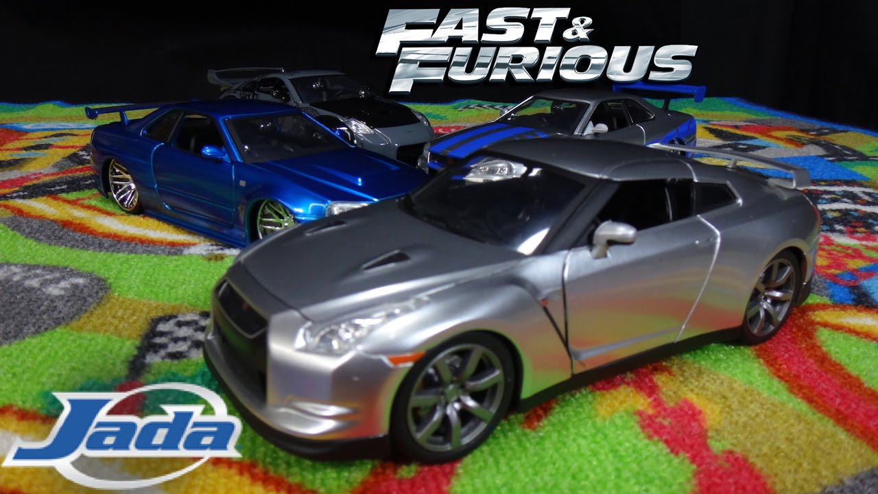 fast and furious brian 39 s silver nissan gtr r35 jada toys. Black Bedroom Furniture Sets. Home Design Ideas