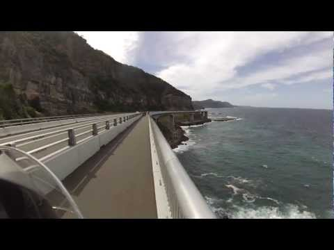 Beautiful Sydney Coastal Road, Sea Cliff Bridge, NSW Australia