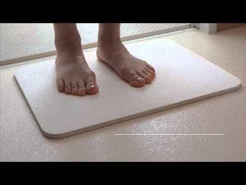 Diatom Earth Bath Mat made in Japan - YouTube