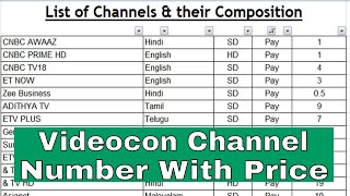 new cable tv channel price list 2019   Tata sky new price list   DTH Channel new price list